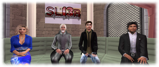 Oz Linden (centre, left) and Landon Linden (centre, right), flanked by Saffia and Elrik
