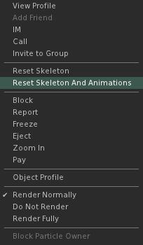 The new Reset Skeleton and Animations option